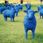 Herzpark Hardterwald_Blaue Schafe