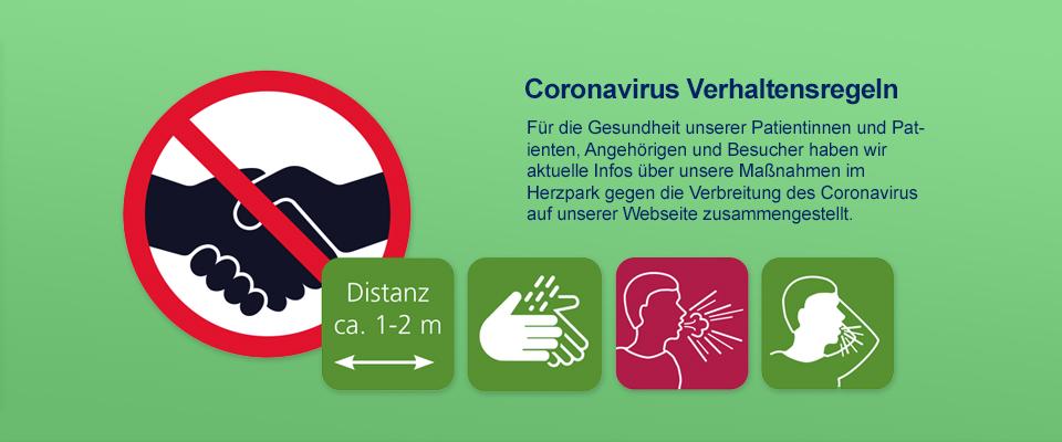 Aktuelle Informationen zum Corona Virus